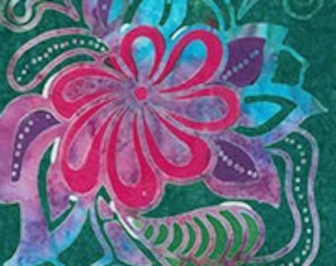 "Flower Power by Banyan Batiks 80595-69  100% cotton 44/45"" wide fabric"