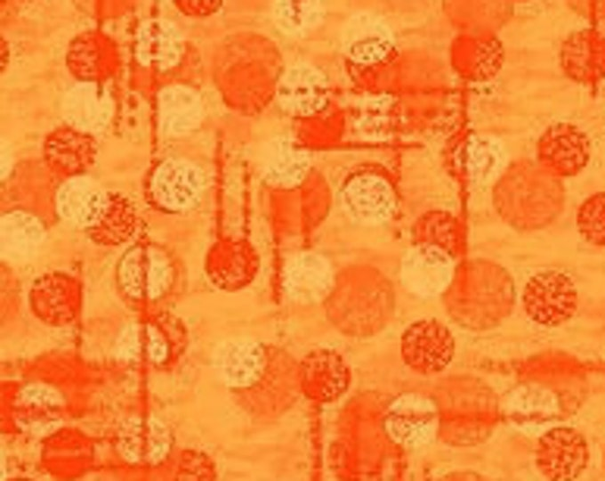 """Jot Dot Orange  by Blank Quilting  9570-33  100% cotton 44/45"""" wide fabric"""