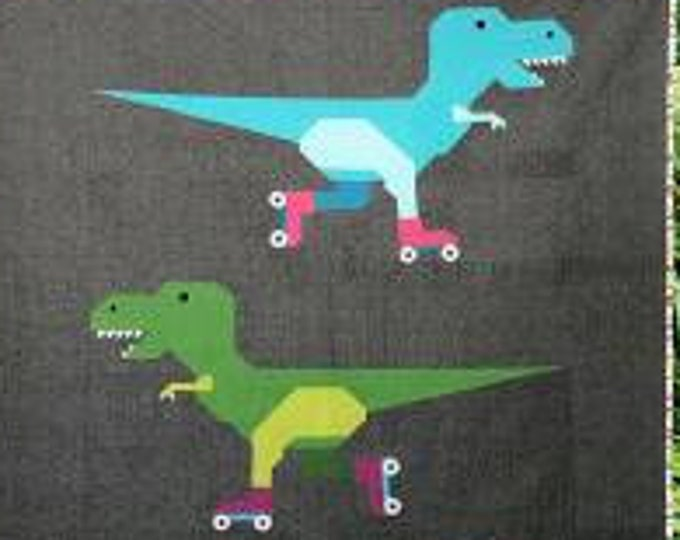 Dinorama  T-Rex on Rollerskates - Pattern Only by Art East Quilting Co