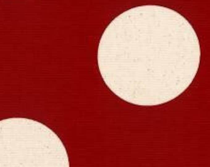 "CANVAS **  Red Canvas Big Dot Lucien   100% Cotton 44""/45"" Wide"