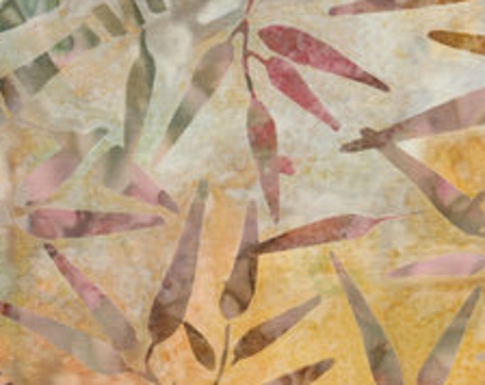 """Art Inspired Color Stories for  Anthology Batiks  Tan  100% Cotton 44/45"""" Wide Fabrics"""
