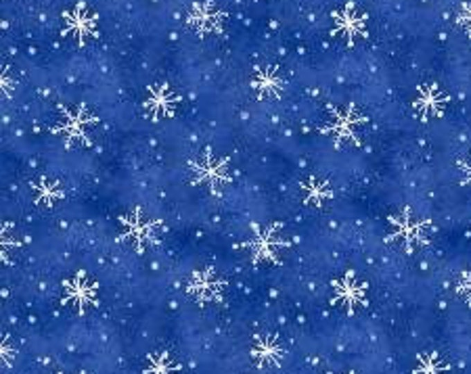"""Snowflakes Snow What Fun by Wilmington Prints  45159-441  44"""" wide 100% Cotton Fabric"""