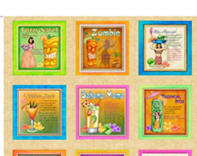 "Postcards Paradise 36"" panel by QT  Fabrics 44"" wide 100% Cotton Fabric"
