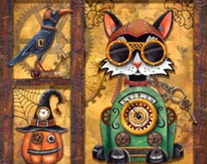 "Steampunk Halloween  Panel  24"" by QT Fabrics  44"" wide 100% Cotton (#24)"