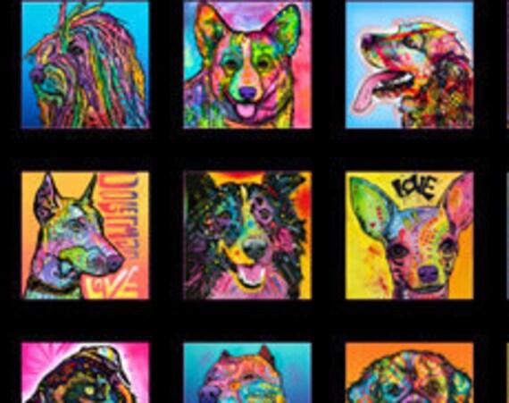 Doggie Daze by QT Fabrics  1 yard Panel 100% cotton (#3)