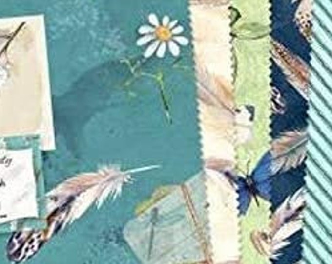 """Nature Study By Wilmington Prints  - 42  10"""" squares from their Nature Study Collection and blenders  100% cotton"""