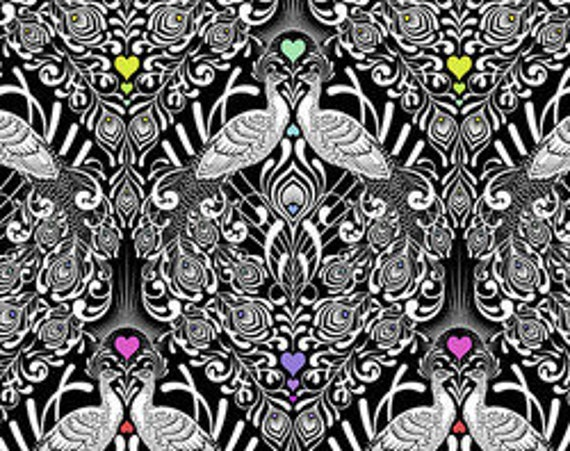 Linework Tall Tails  by Tula Pink for Free Spirit  44-inch Wide Cotton Fabric Yardage 100% cotton