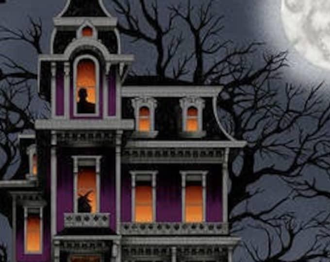 "Spooky Night by Studio E  5729P-93   1 yard panel  44"" wide 100% Cotton Fabric (#31)"