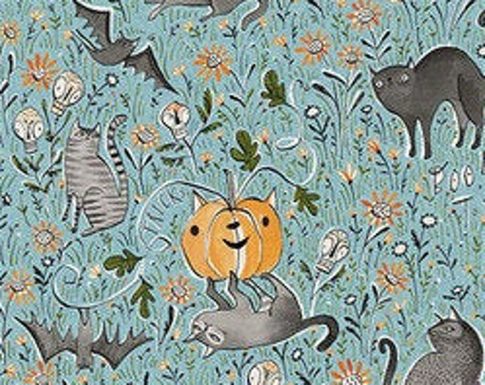 In the Patch, Spirit of Halloween by Cori Dantini for Free Spirit  44-inch Wide Cotton Fabric Yardage 100% cotton