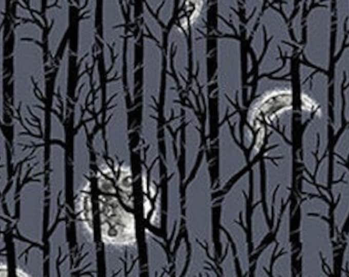 """Spooky Night by Studio E   Midnight Trees 5726-97   44"""" wide 100% Cotton Fabric"""