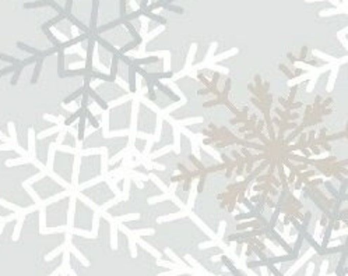WIDEBACK Snowflakes by Windham Fabrics 514161-1 108-inch Extra Wide Cotton Fabric Yardage Backing Fabric Wide Back