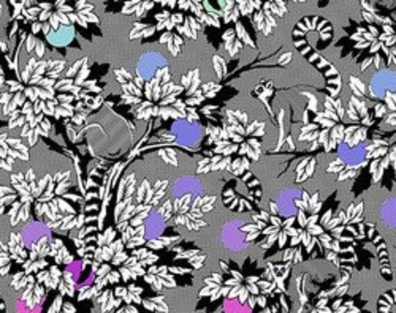 Linework Lemur Me Alone  by Tula Pink for Free Spirit  44-inch Wide Cotton Fabric Yardage 100% cotton