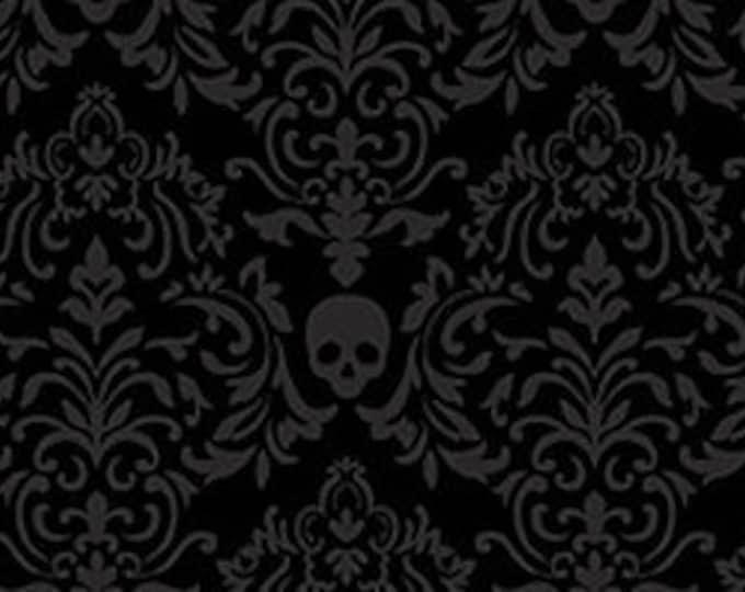 "Spooky Night by Studio E   Small Damask 5720-99   44"" wide 100% Cotton Fabric"