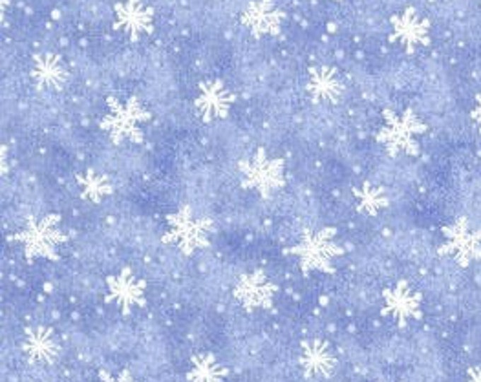 """Snowflakes Snow What Fun by Wilmington Prints  45159-401  Light Blue 44"""" wide 100% Cotton Fabric"""