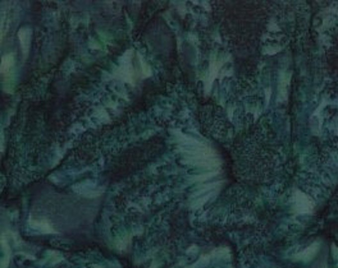 "Rock Candy Batik Dark Green by Wilmington Prints 2678-779  44"" wide fabric 100% cotton"