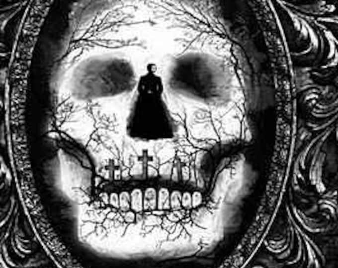 "Wicked Skull Door by Timeless Treasures   24"" Panel   44"" wide 100% Cotton (#4)"