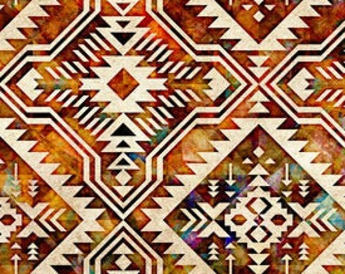 "Southwest Reflection Blanket  by Dan Morris for QT Fabrics 28261E   100% cotton 44/45"" wide fabric"
