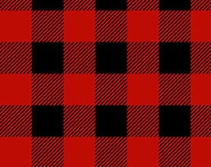 """FLANNEL Red and Black Plaid by Henry Glass 9270-89      44"""" wide 100% Cotton Fabric"""