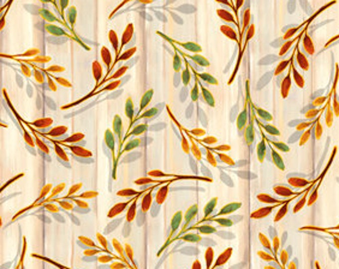 "Harvest Elegance Sprigs by QT 27672-E 100% cotton 44/45"" wide fabric"