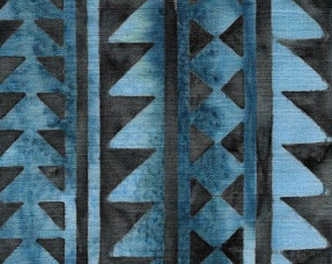 """Faded Blue Jeans Triangle  by Island Batik  104791   100% cotton 44/45"""" wide fabric"""