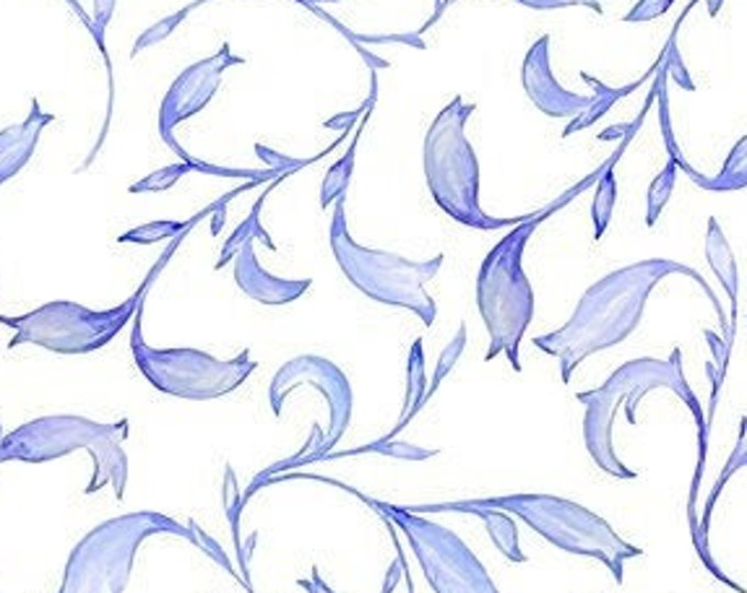 Patricia  Sprigs Periwinkle Blue  by  In The Beginning Fabrics 9Pat-3  Digital 44-inch Wide Cotton Fabric Yardage 100% cotton