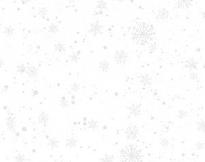 """White On White Snowflakes Nose to Nose by Wilmington Prints  39686-100  44"""" wide 100% Cotton Fabric"""