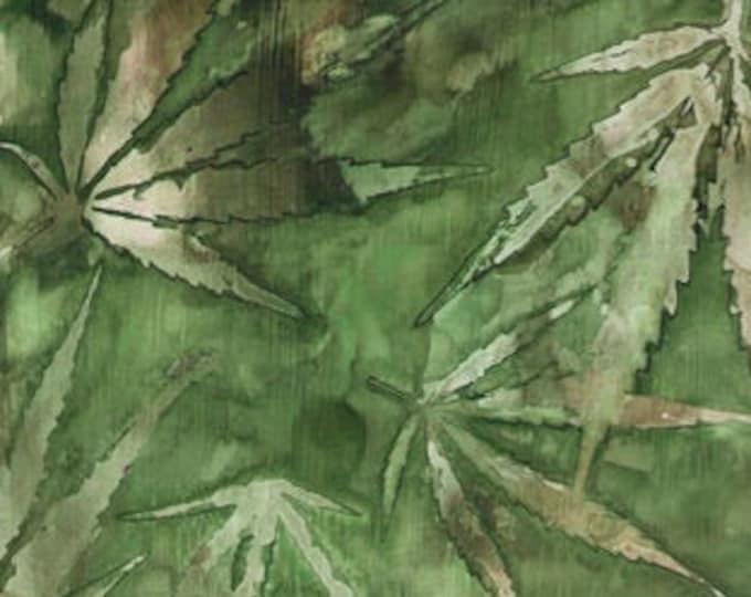 "Cannabis Green by QT Fabrics  24913-G  44"" Wide 100% Cotton"