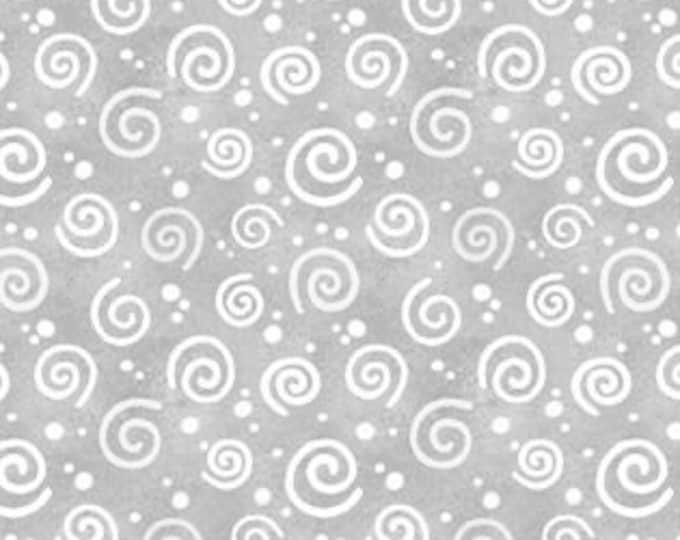 """Snow What Fun Swirls by Wilmington Prints  45161-911 Gray 44"""" wide 100% Cotton Fabric"""