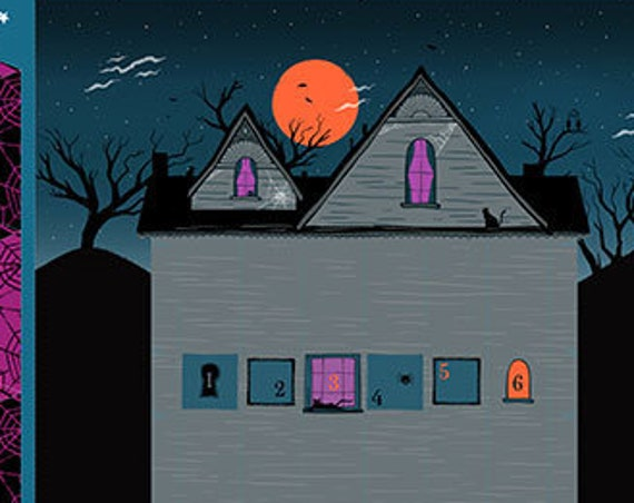 """Halloween Project Panel by Sarah Watts for Moda   57.5""""x75.75"""" Panel 100% cotton"""