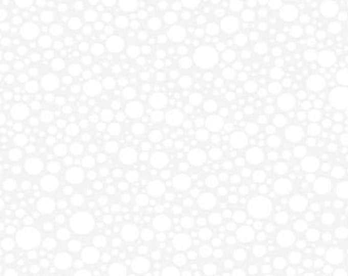 "White on White - Essentials Soda Pop - by Wilmington Prints  39118-100  44"" wide 100% Cotton Fabric"