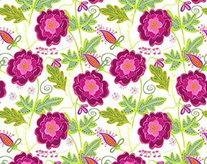 Petit Jardin Floral 4JHR-1 Jennifer Heynen  In The Beginning Fabrics Digital 44-inch Wide Cotton Fabric Yardage 100% cotton