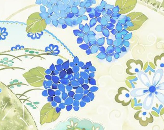 "Ajisai Floral Cream by Jason Yenter for In the Beginning Fabrics 1AJI 1 44"" wide 100% Cotton Fabric"