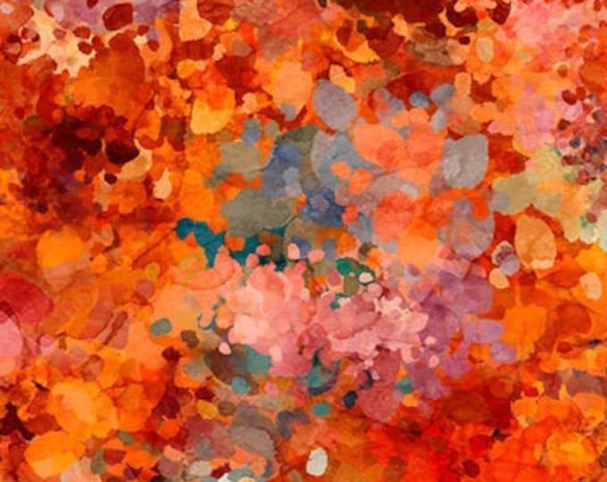 "Origins Orange  by QT Fabrics 27951-OT   100% cotton 44/45"" wide fabric"