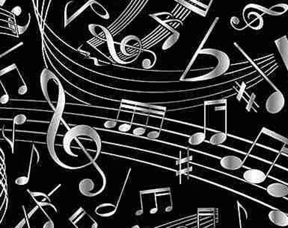 Music by Timeless Treasures C7587  44-inch Wide Cotton Fabric Yardage