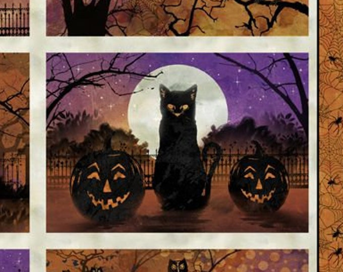 """Frightful Night by Wilmington Prints  24""""  4  Placemat  Panel   100% cotton (#17)"""