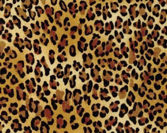 """Leopard by Timeless Treasures Wild- C2722  100% Cotton 44/45"""" Wide Fabrics"""