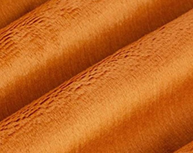 MINKY - Rust Cuddle 3 by Shannon Fabrics  58 inch Wide MINKY  Fabric Yardage