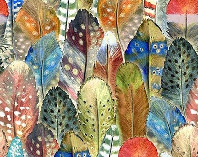 Southwest Feathers  by  In The Beginning Fabrics   Digital 44-inch Wide Cotton Fabric Yardage 100% cotton