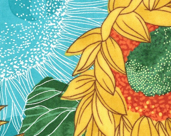 """Solana Sunflowers Pond by Robin Pickens for Moda  48680-17  44"""" Wide 100% Cotton"""