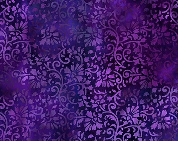 "Rainbow of Jewels Purple  by In The Beginning Fabrics 2RJ-1 44"" wide 100% Cotton Fabric"