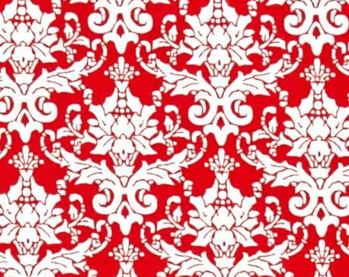 """Red Damask  by AE Nathan Co. 11081 Red  44"""" Wide 100% Cotton Fabric"""
