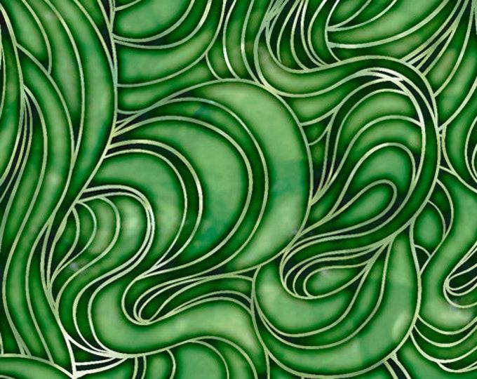 "Happy Harvest Green Smoke  by QT Fabrics 28388-G    100% cotton 44/45"" wide fabric"