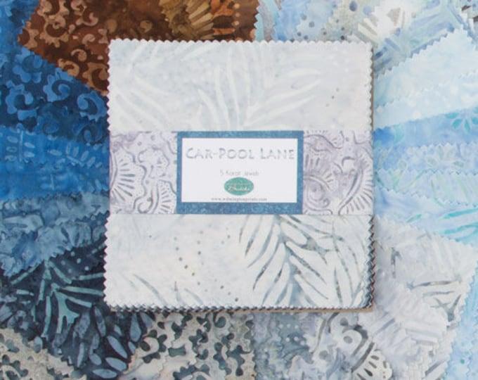 """Car-Pool Lane By Wilmington Prints  - 42  5"""" squares  Batiks  100% cotton"""
