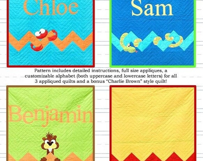 Peek-a-Boo Pals II Detailed Instructions and Appliques Pattern Only 40x50
