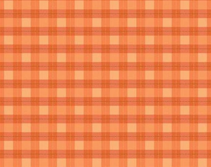 "FLANNEL  Woodland Plaid by Riley Blake  Orange    44"" wide 100% Cotton Fabric"