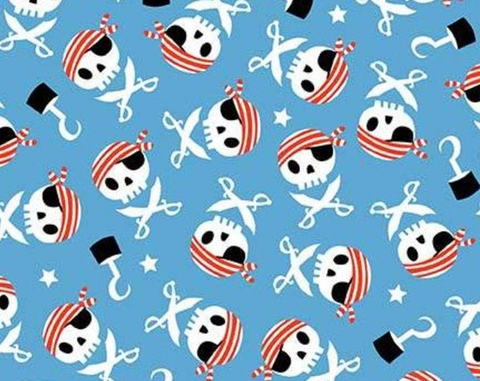 """FLANNEL  - Pirates Life by Riley Blake  F7781   44"""" wide 100% Cotton Fabric"""