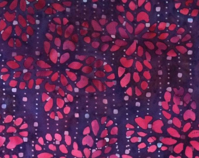 "Flamenco  by Batiks by Mirah  Purple FM-1-9552 44""/45"" wide fabric 100% Fabric"