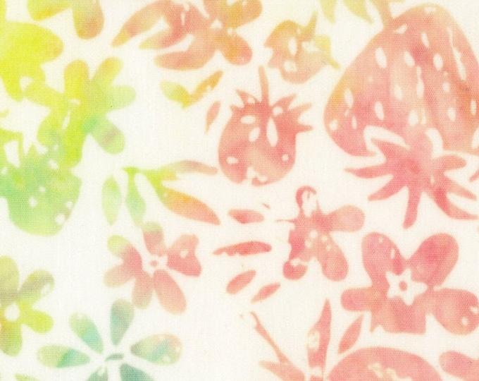 """Fruit Basket Strawberry for  Anthology Batiks    100% Cotton 44/45"""" Wide Fabrics"""