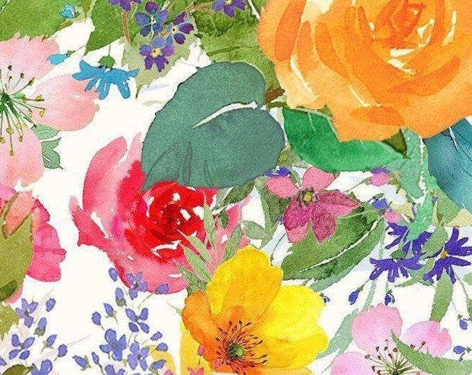 "Flower Shop Bouquets  by Clothworks   Y3299-36   44"" wide 100% Cotton Fabric"