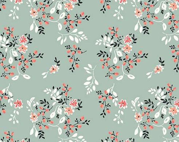 "Ava Kate Vines by Riley Blake C10533 Seafoam 44"" wide 100% Cotton Fabric"